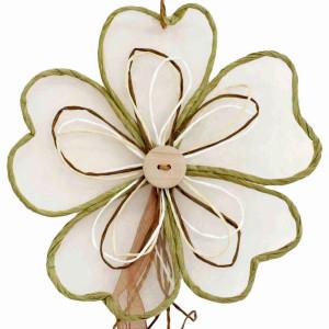 Deko Party Girlande Blume 100 cm  Farbe Sand für...
