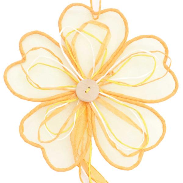 Deko Party Girlande Blume 100 cm  Farbe Mandarin für Ostern Frühjahr und Herbst