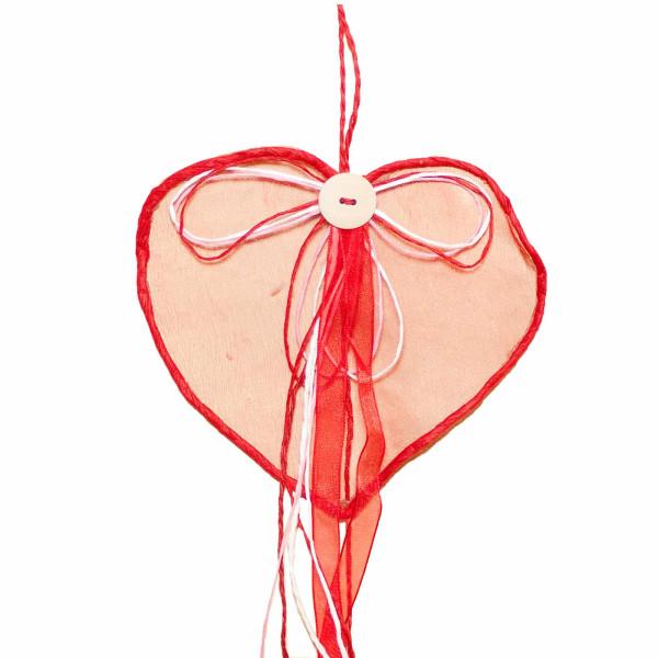 Deko Party Girlande Herz 100 cm  Farbe Erdbeer für Geburtstag