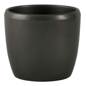 Keramik Blumentopf Venus 22/19 dunkelsilber Ø 25cm...