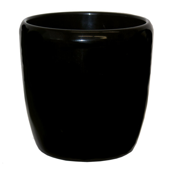 Keramik Hydro Blumentopf Venus schwarz