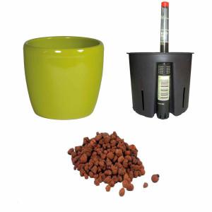 Set4 Keramik Blumentopf Venus schilfgrün...