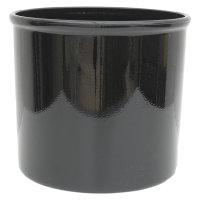 Set4 Kunststoff Blumentopf Corona schwarz+Bewässerungs-Set für Erdpflanzen