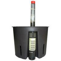Set4 Kunststoff Blumentopf Corona weiß+Bewässerungs-Set für Hydropflanzen
