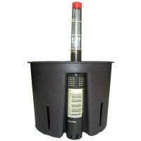 Set5 Kunststoff Blumentopf Corona weiß+Bewässerungs-Set für Hydropflanzen