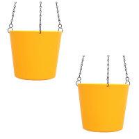 Set2 Kunststoff Ampel-Flori gelb