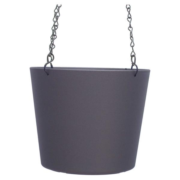 Kunststoff Ampel-Flori dunkelsilber