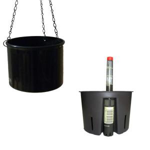 Set3 Kunststoff Hydro Ampel Corona schwarz mit...