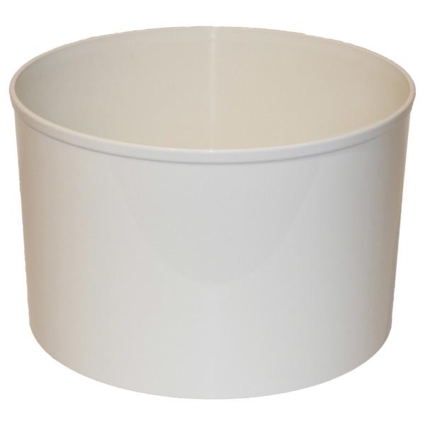 Kunststoff Blumenkübel Corona weiss Ø 37cm H 24,5cm ohne Rollen