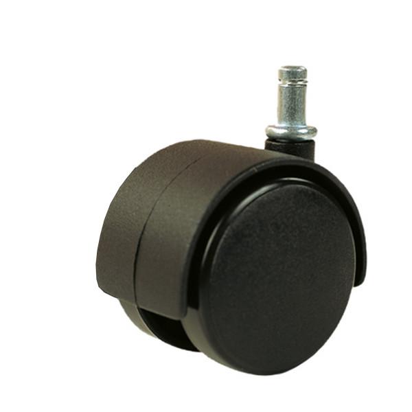 Rollen schwarz für weichen Untergrund Metallstift Ø 8 mm