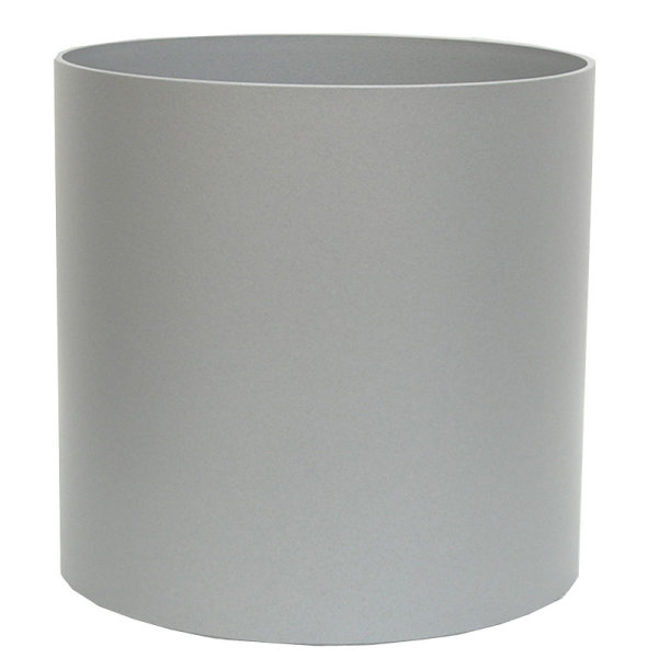 Kunststoff Hydro Blumenkübel Elegance weißaluminium struktur ohne Rollen