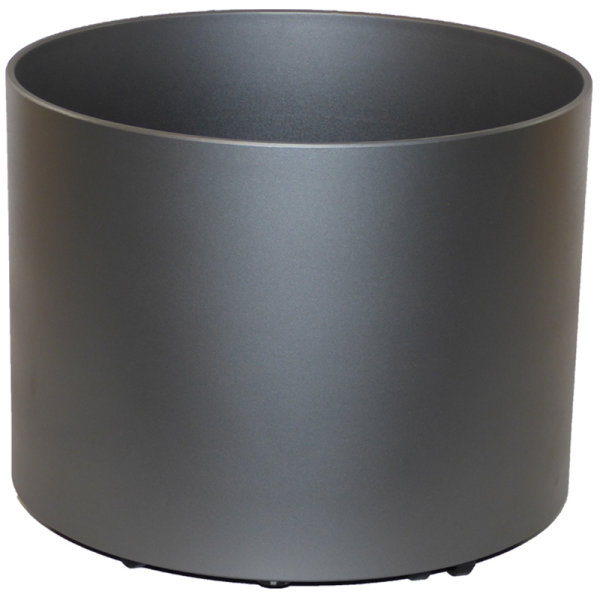 Kunststoff Hydro Blumenkübel Elegance anthrazit metallic hb Rollen