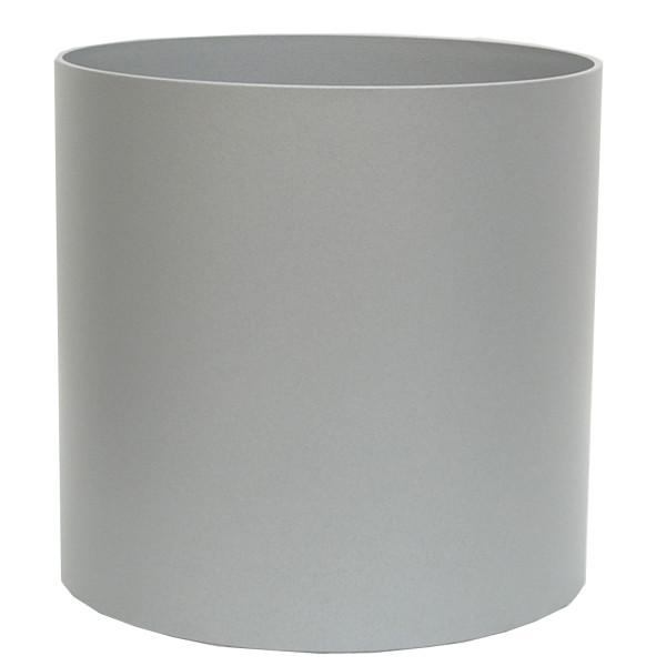 Kunststoff Hydro Blumenkübel Elegance weißaluminium struktur wb Rollen