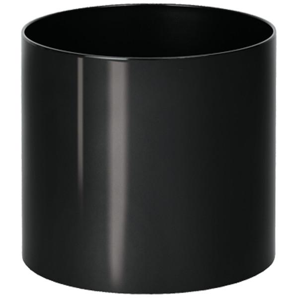 Kunststoff Hydro Blumenkübel Elegance schwarz glänzend wb Rollen