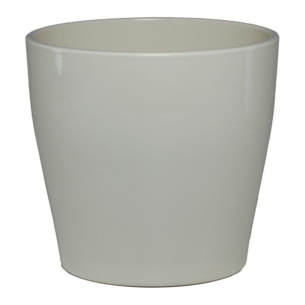 Keramik Hydro Blumentopf Portato creme glänzend