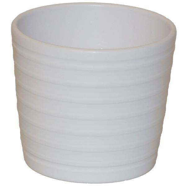 Keramik Hydro Blumentopf Maui weiss 13/12 Ø 16 cm H 13,5 cm