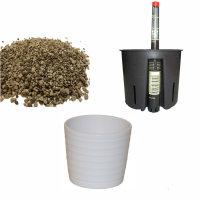 Set4 4 teilig für Erdpflanzen Blumentopf Keramik...