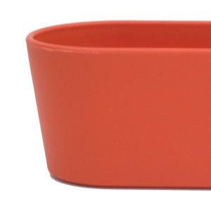Set6 6 teilig Kunststoff Flori Pflanzschale orange für Hydrokultur