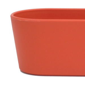 Set6 6 teilig Kunststoff Flori Pflanzschale orange für Erdpflanzen