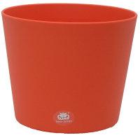 Set4 4 teilig Blumentopf Flori Ø 16 orange + Kulturtopf + Wasserstandsanzeiger für Erdpflanzen