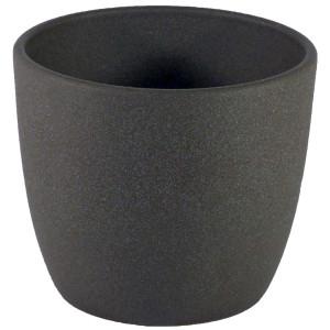 Set5 5 teilig für Hydrokultur Blumentopf Keramik Mallorca 11/09 anthrazit Ø 12,5 cm H 12 cm