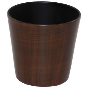 Set4 4 Keramik Übertöpfe Korfu mit Bali Holzdekor