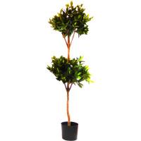 Kunstpflanze Naturstamm 2 Lorbeerkugeln ca. 140 cm