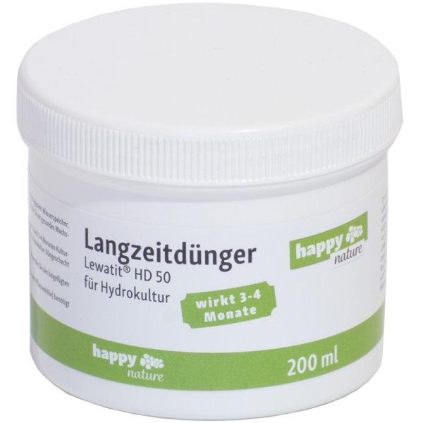 happy-nature Langzeitdünger Hydrokultur HD 50 Lewatit 200 ml