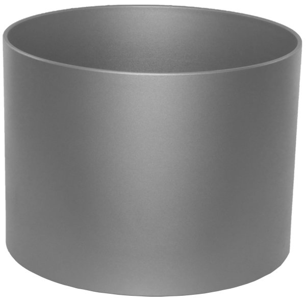 Kunststoff Blumentopf Boden Vision metallic graphit Ø 38 cm H 29 cm mit Rollen