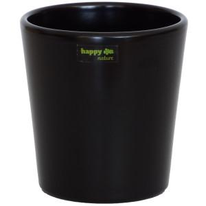 Keramik Blumentopf Ibiza schwarz