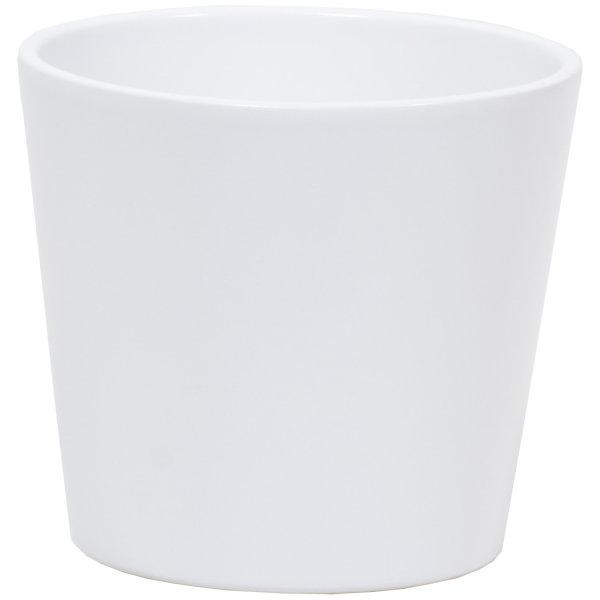 Keramik Hydro Blumentopf Vasa weiß matt
