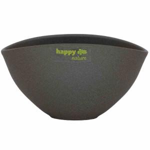 Keramik Schale Madeira dunkel grau struktur L 19 cm H 10 cm
