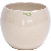Set4 für Orchideen Keramik Blumentopf Pisa rund sand beige Ø 16 cm H 13.5 cm + 2 Clips