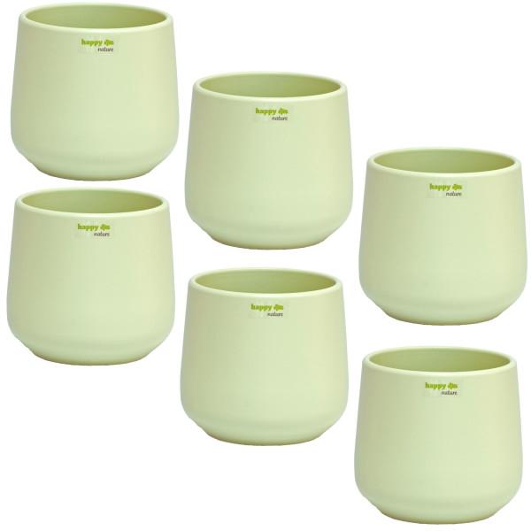 Set6  Keramik Blumentopf Sylt mint grün Ø 13 cm H 13,5 cm