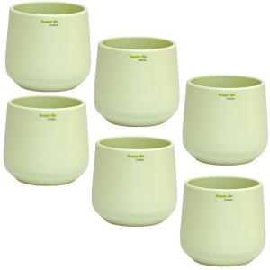 Set6  Keramik Blumentopf Sylt mint grün Ø 13...