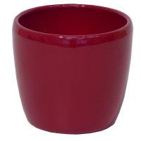 B Ware Keramik Hydro Blumentopf Venus weinrot happy-nature