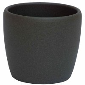 Set5 Keramik Blumentopf Venus dunkel grau struktur + Bewässerungs-Set für Hydropflanzen