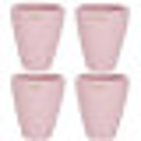 Set4 4 Keramik Blumentöpfe Rhodos für Orchideen rosa H 17 cm happy-nature