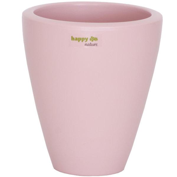 B Ware Keramik Blumentopf Rhodos für Orchideen silver pink H 17 cm