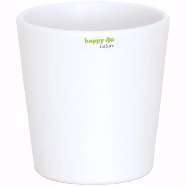 B Ware Keramik Blumentopf Ibiza weiss
