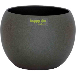 Keramik Blumentopf Madeira dunkel grau struktur Kugel...
