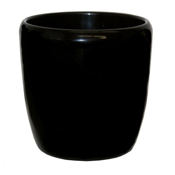 B Ware Keramik Hydro Blumentopf Venus schwarz happy-nature