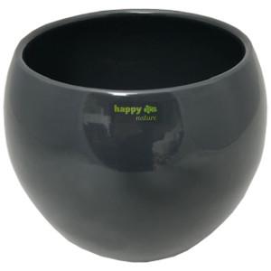 Keramik Blumentopf Menorca 15/12 granit Lasur grau...