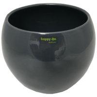 Set5 Keramik Blumentopf hydro Menorca 13/12 Ø 19 H 14 cm  grau Blähton von happy-nature