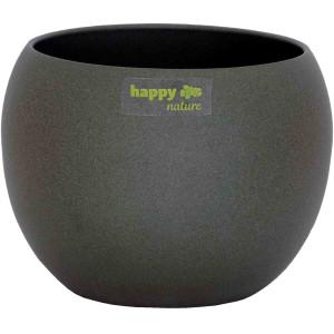 Set4 4 Keramik Blumentöpfel Madeira dunkel grau...