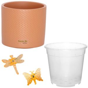 Set für Orchideen Keramik Blumentopf Toscana...