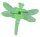 Orchideenclips Libelle grün Breite ca. 4 cm