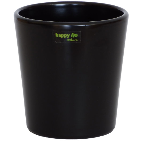 B Ware Keramik Blumentopf Ibiza schwarz