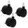Set3 = 3 Rollen schwarz + Feststeller Stift 8 mm für Blumenkübel Elegance Corona