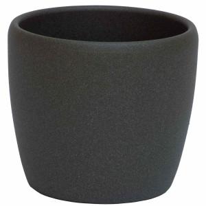 B Ware Keramik Hydro Blumentopf Venus dunkel grau...